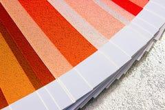 Образец красит каталог Направляющий выступ палитры цвета Стоковая Фотография RF