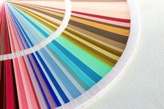 Образец красит каталог Направляющий выступ палитры цвета Стоковое Изображение RF