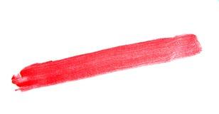 Образец мазка губной помады на белой предпосылке Стоковая Фотография