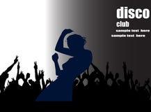 образец плаката диско Стоковое Изображение