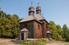 Образец старых домов Украины внутри Стоковое Фото