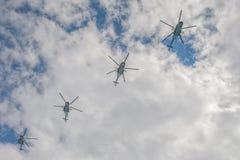 Образование боя вертолетов Стоковые Фотографии RF