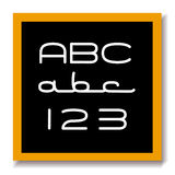 образование доски abc 123 черное Стоковая Фотография RF