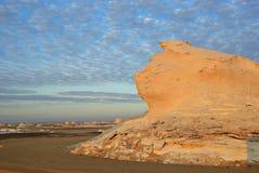 Образование известняка в белой пустыне Сахаре Египте стоковая фотография