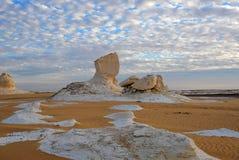 Образование известняка в белой пустыне Сахаре Египте стоковое изображение rf