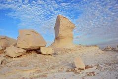 Образование известняка в белой пустыне Сахаре Египте стоковая фотография rf