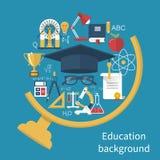 Образование и концепции учить иллюстрация вектора
