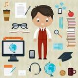 Образование и концепция учить Стоковое Изображение RF