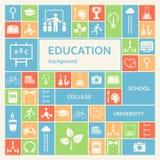 Образование и предпосылка учить Стоковые Фотографии RF