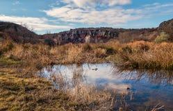 Образование каньона Aktovskiy загадочное Стоковая Фотография