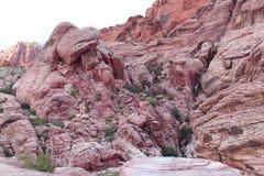 Образование красных холмов ситца каньона затейливое Стоковое фото RF