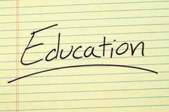 Образование на желтой законной пусковой площадке Стоковая Фотография RF
