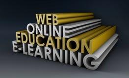 образование он-лайн иллюстрация штока
