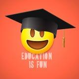 Образование потеха, смеяться над смайлика иллюстрация штока