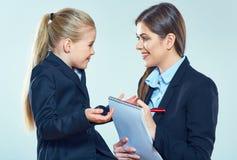 Образование ребенка с учительницей Стоковая Фотография