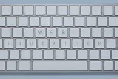 Образование сети слов на клавиатуре и других компьютера пользуется ключом уничтоженный Стоковая Фотография