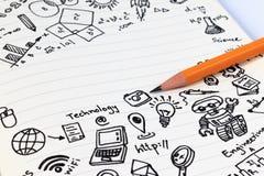 Образование СТЕРЖНЯ Математика инженерства технологии науки Стоковая Фотография