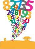 Образование торнадо сделанное арабских цифров EPS10 и jpg Стоковое Изображение