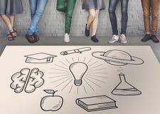 Образование уча концепцию знания исследования идей Стоковое Изображение