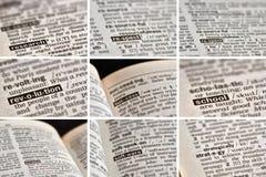 Образование уча установленные слова (6 из 8) Стоковая Фотография