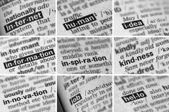 Образование уча установленные слова (3 из 8) Стоковые Фото