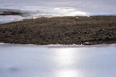 Образование льда вокруг земли Стоковое фото RF