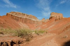 Образование Yesera Ла геологохимическое, сухой поток, Salta, Аргентина стоковые фотографии rf