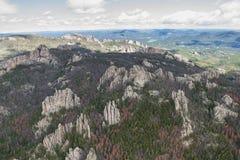 Образования гранита в Black Hills стоковая фотография rf