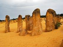 Образования известковой скалы башенк, западная Австралия стоковые изображения