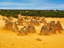 Образования известковой скалы башенк, западная Австралия стоковые изображения rf