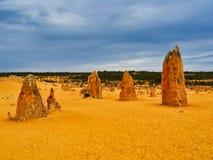 Образования известковой скалы башенк, западная Австралия стоковая фотография rf