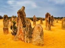 Образования известковой скалы башенк, западная Австралия стоковое фото rf