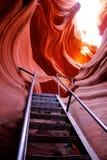 Образования красного песчаника на каньоне антилопы Стоковое Изображение