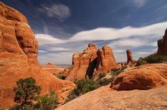 Образования песчаника в пустыне Юты Стоковая Фотография RF