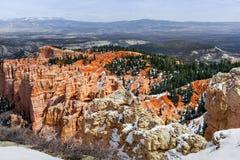Образования размывания каньона Bryce, сценарный ландшафт в Юте Стоковые Фото