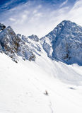 образовывает дугу лыжа курорта les Стоковые Фотографии RF