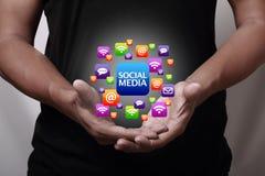 образуйте переговоры принципиальной схемы связи имея social людей средств Стоковое Изображение RF