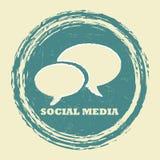 образуйте переговоры принципиальной схемы связи имея social людей средств Стоковая Фотография