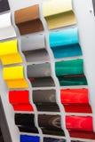Образцы краски автомобиля Стоковые Фото