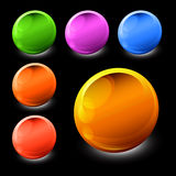 образцы наггета икон цвета Стоковое Фото