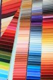 Образцы ткани в магазине Стоковое Фото