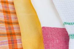 Образцы ткани закрывают вверх Стоковое Изображение RF