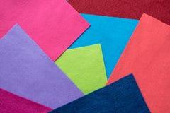Образцы щитков войлока нежности в других цветах Вентилятор покрашенный стоковое фото rf