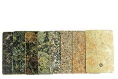 Образцы worktop кухни изолированные на белизне Стоковое Изображение
