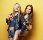 Образ жизни и концепция людей: 2 друз маленькой девочки стоя к Стоковая Фотография
