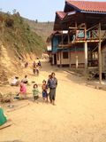 Образ жизни на Lao Стоковые Фото