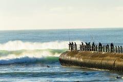 Образ жизни спорт океана пристани пляжа Стоковое фото RF