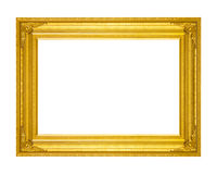 Обрамите винтажное пустое высекаенное деревянное картинной рамки изолированный на whit Стоковое Изображение RF