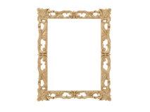 обрамите золотистый сбор винограда вектора иллюстрации Зеркало изолята Элемент дизайна ретро физическое реалистическое отражение Стоковые Фотографии RF