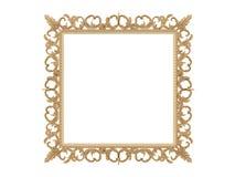 обрамите золотистый сбор винограда вектора иллюстрации Зеркало изолята Элемент дизайна ретро физическое реалистическое отражение Стоковые Изображения